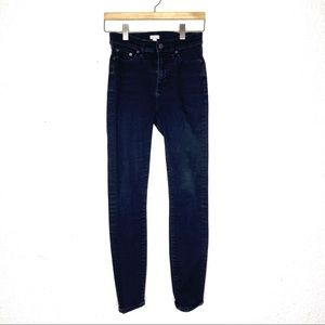 J.Crew High Rise black washed skinny stretch jeans
